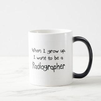 When I grow up I want to be a Radiographer Magic Mug