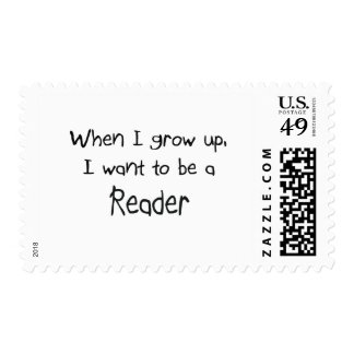 When I grow up I want to be a Reader Stamp