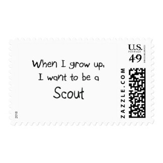 When I grow up I want to be a Scout Postage Stamp