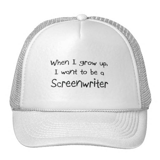 When I grow up I want to be a Screenwriter Trucker Hat
