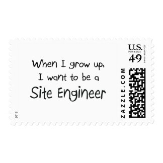 When I grow up I want to be a Site Engineer Stamps