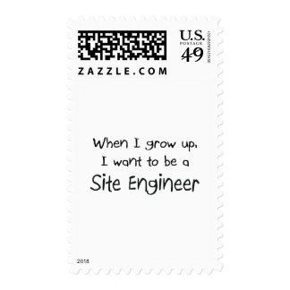 When I grow up I want to be a Site Engineer Stamp
