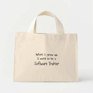 When I grow up I want to be a Software Trainer Canvas Bag