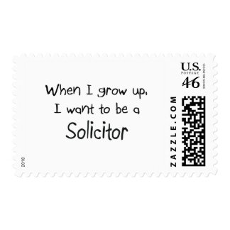 When I grow up I want to be a Solicitor Stamp
