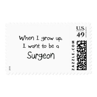 When I grow up I want to be a Surgeon Postage Stamps