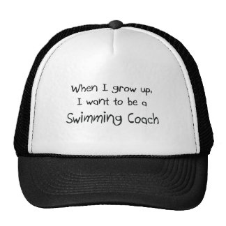 When I grow up I want to be a Swimming Coach Mesh Hat