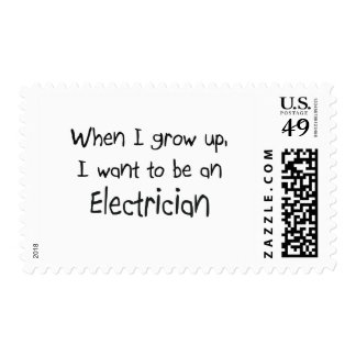 When I grow up I want to be an Electrician Postage Stamps
