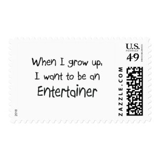 When I grow up I want to be an Entertainer Stamp