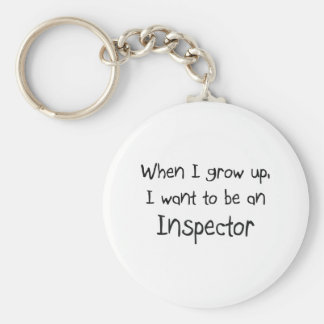 When I grow up I want to be an Inspector Basic Round Button Keychain