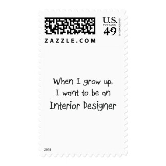 When I grow up I want to be an Interior Designer Stamp