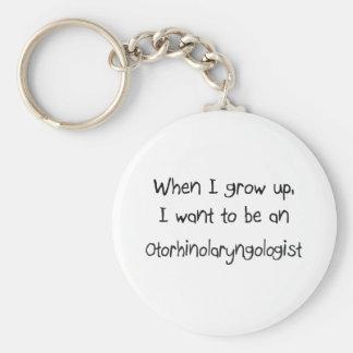 When I grow up I want to be an Otorhinolaryngologi Basic Round Button Keychain