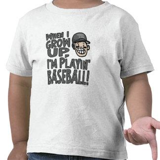 When I Grow Up I'm Playing Baseball Black Helmet T Shirt