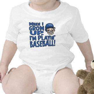 When I Grow Up I'm Playing Baseball Blue Helmet T-shirt