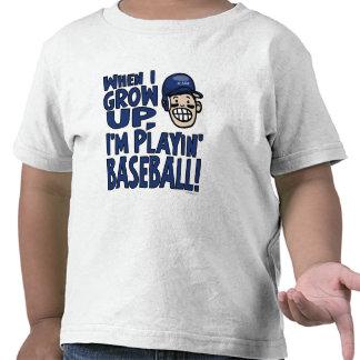 When I Grow Up I'm Playing Baseball Navy Helmet T Shirts