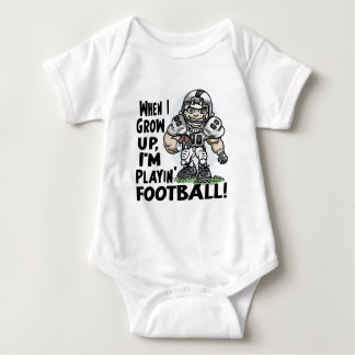 When I Grow Up, I'm Playing Football Baby Bodysuit
