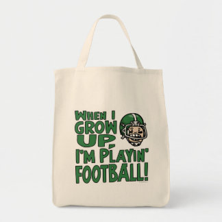 When I Grow Up I'm Playing Football Bags