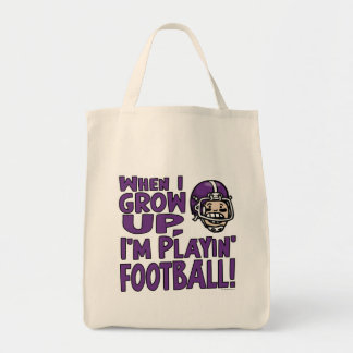 When I Grow Up I'm Playing Football Bag