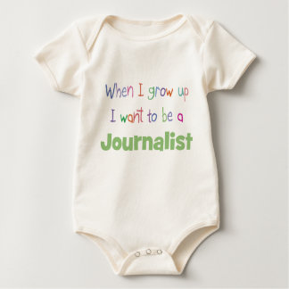 When I Grow Up Journalist Baby Bodysuit
