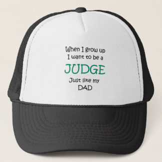 When I grow up Judge text only Trucker Hat