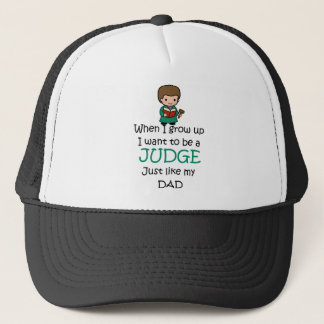 When I grow up Judge with graphic Trucker Hat