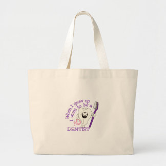 When I Grow Up Large Tote Bag