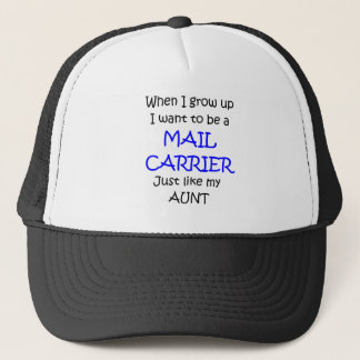 When I grow up Mail Carrier text only Trucker Hat