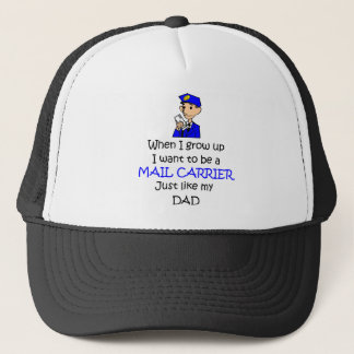 When I grow up Mail Carrier with graphic Trucker Hat