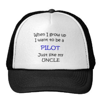 When I grow up Pilot text only Trucker Hats