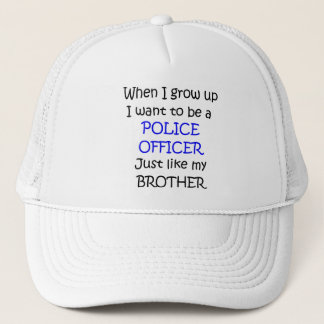 When I grow up Police Officer Text only Trucker Hat