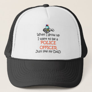 When I grow up Police Officer with graphic Trucker Hat