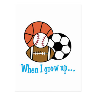 WHEN I GROW UP POSTCARD