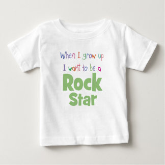 When I Grow Up Rock Star Baby T-Shirt