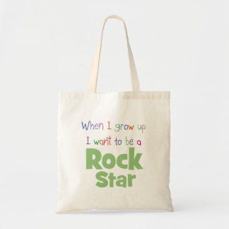 When I Grow Up Rock Star Budget Tote Bag