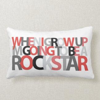 When I Grow Up... ROCKSTAR pillow