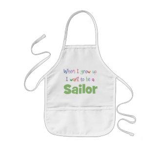 When I Grow Up Sailor Kids' Apron