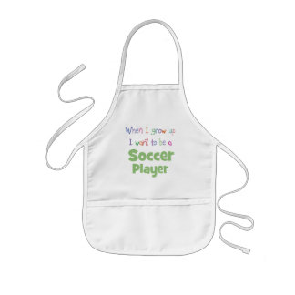 When I Grow Up Soccer Player Kids' Apron