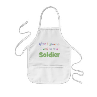 When I Grow Up Soldier Kids' Apron