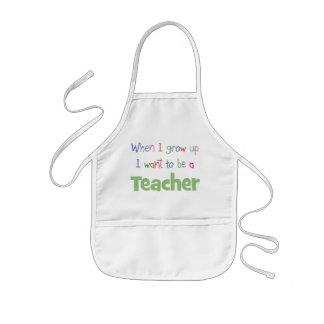When I Grow Up Teacher Kids' Apron