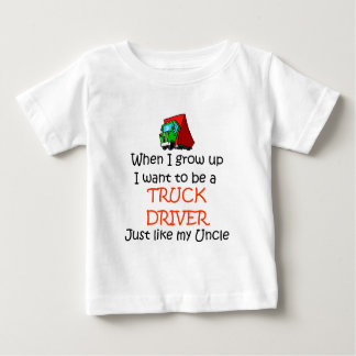 When I grow up Truck Driver Baby T-Shirt