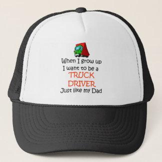 When I grow up Truck Driver Trucker Hat
