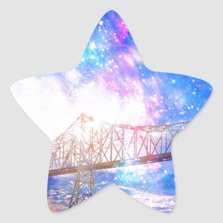 When I Look to the Sky Star Sticker