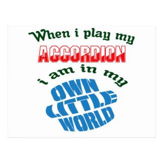 When I Play My accordion. Postcard