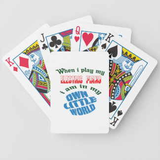 When I Play My electric piano. Bicycle Playing Cards