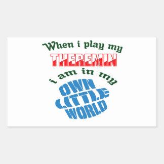 When I Play My Theremin. Rectangular Sticker