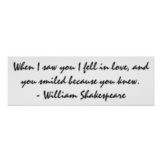 When I saw you I fell in love - Wall Art