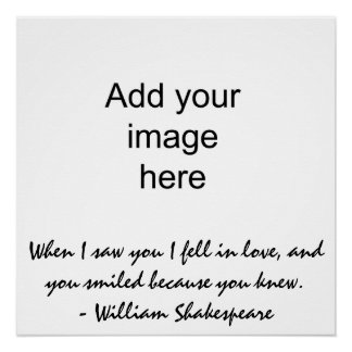 When I saw you I fell in love - Wall Art Poster