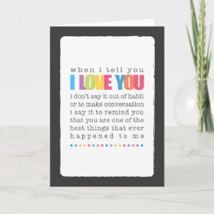 Blank cards zazzle when i tell you i love you blank greeting card m4hsunfo