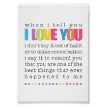 When I Tell You I Love You Poster