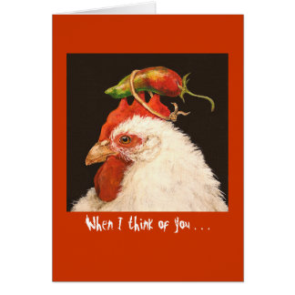 When I think of you I think red hot card