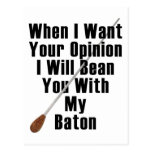 When I Want Your Opinion... Postcard
